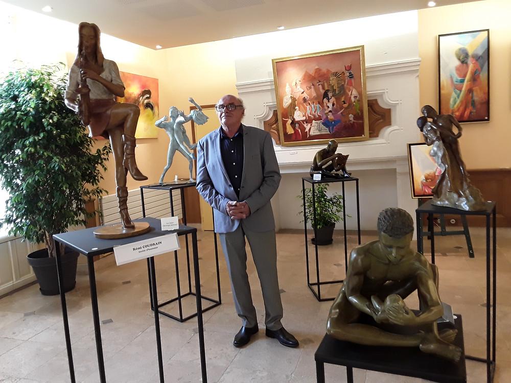 Sculpture bronze exposition Rémi Coudrain