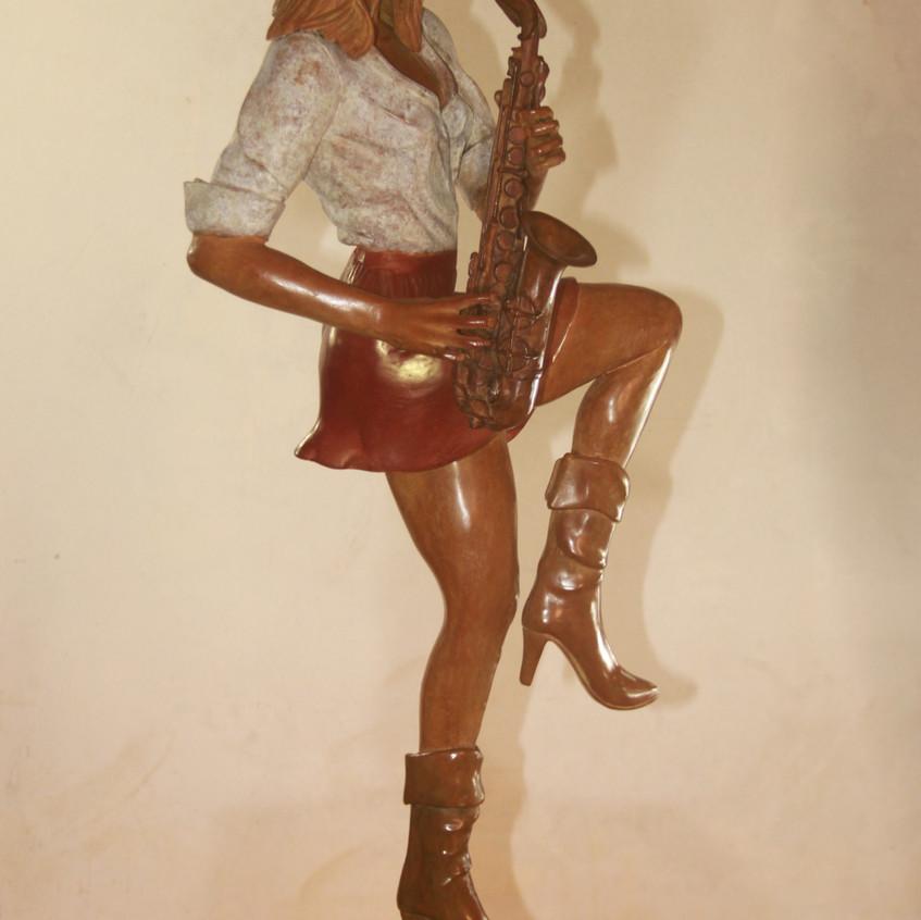 La Saxophoniste/bronze/coudrain