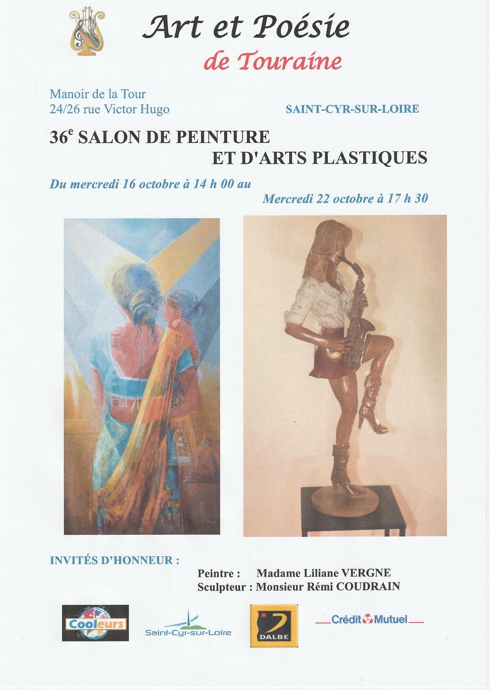 Arts et poésie de Touraine invité d'honneur Rémi Coudrain
