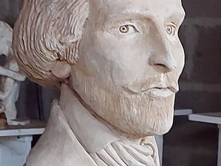 Buste Alfred de Musset in progress