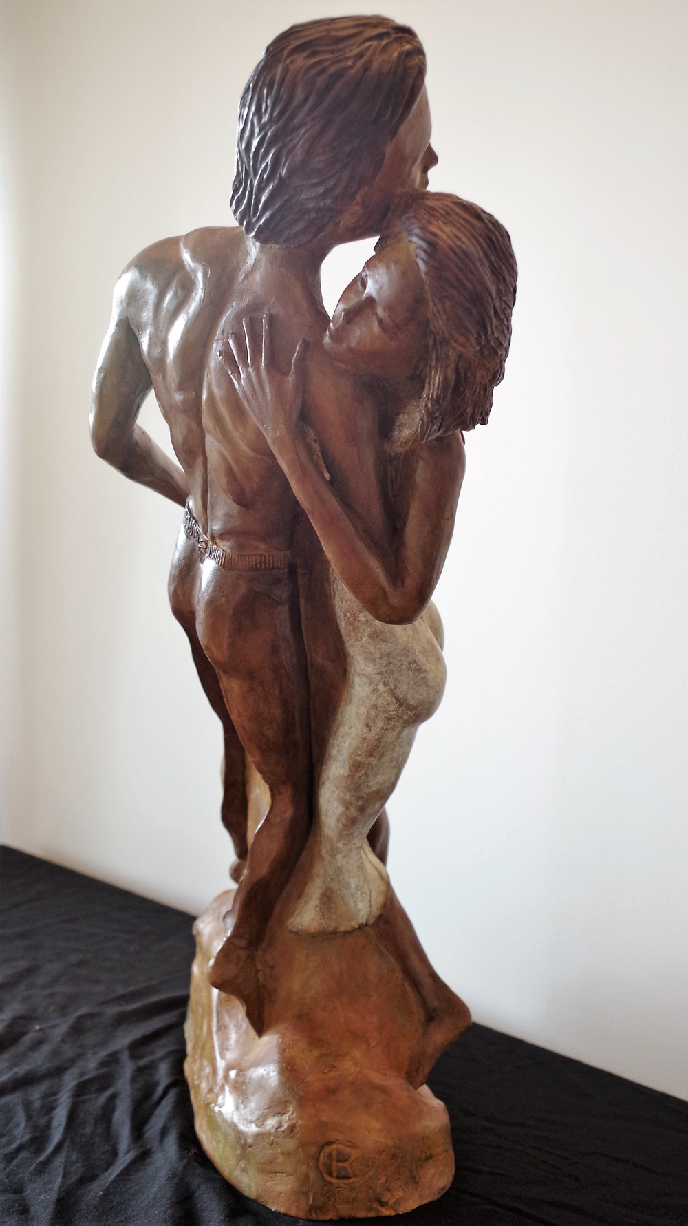 Un couple qui valse, une sculpture contemporaine, un bronze éternel...!!!