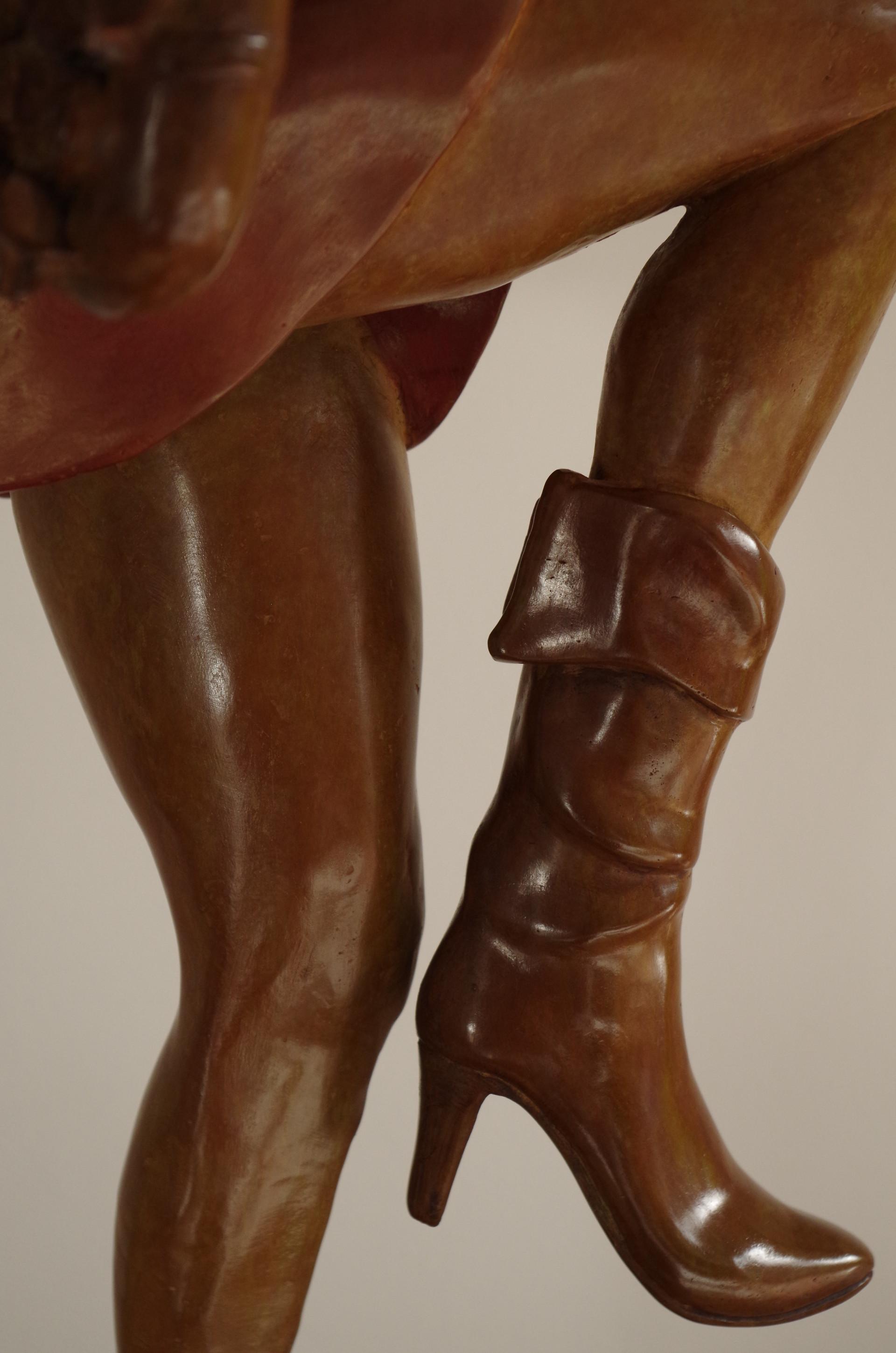 Bottines et mouvement de jambes