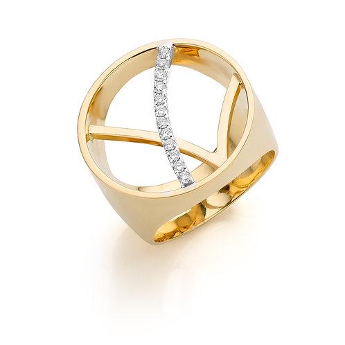 ring - 18kt geel goud
