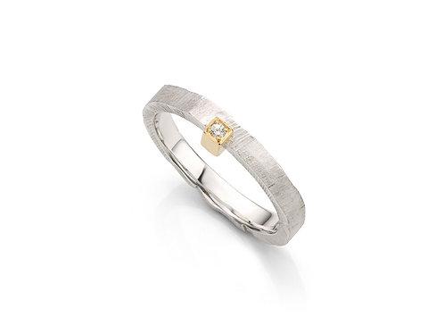 ring in zilver geel goud