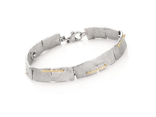 Armband -18 kt goud /sterling zilver