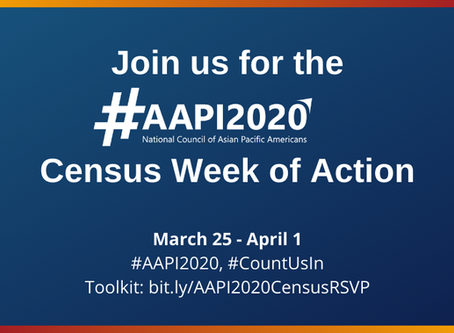 #AAPI2020 Census Week of Action