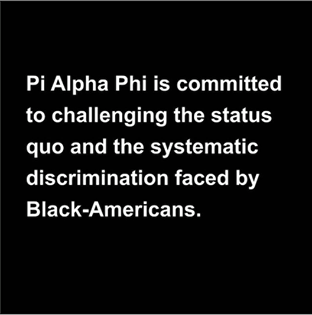 Pi Alpha Phi Statement on Racism and Recent Events