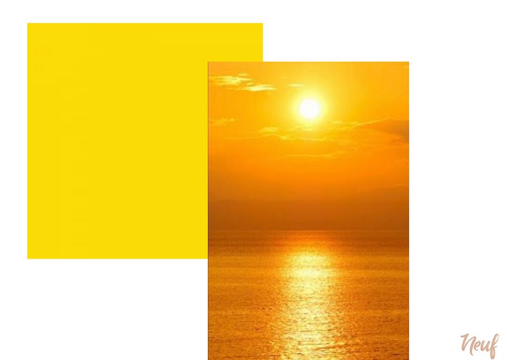 amarelo cores quentes e cores frias