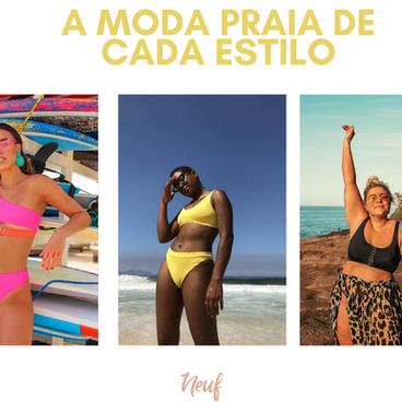 A moda praia de cada estilo