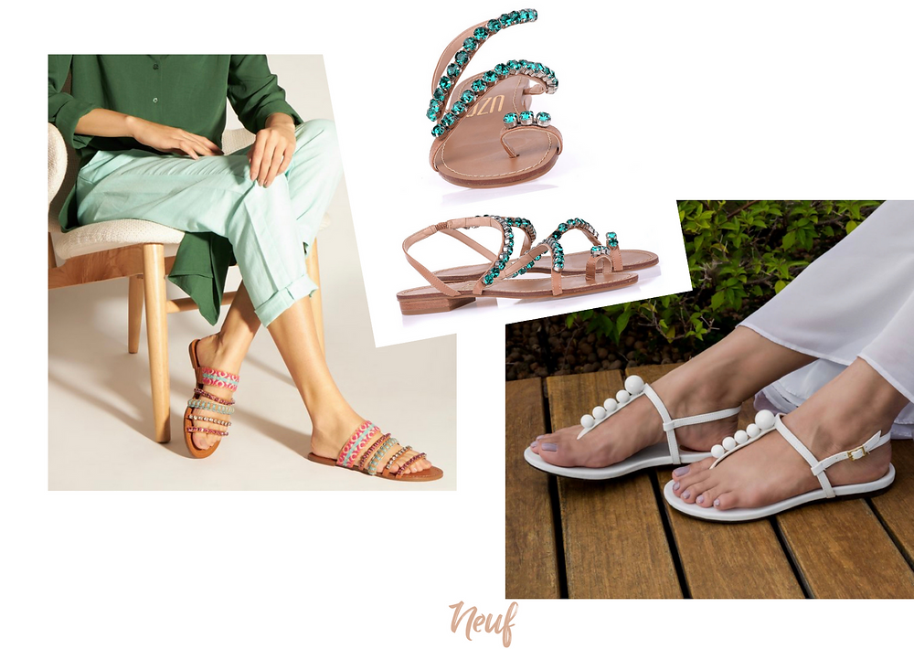 como usar sandálias rasteiras