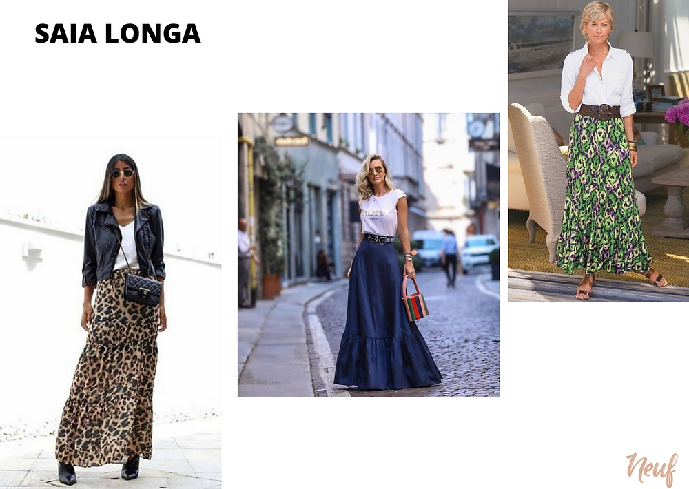 modelos de saia - longa