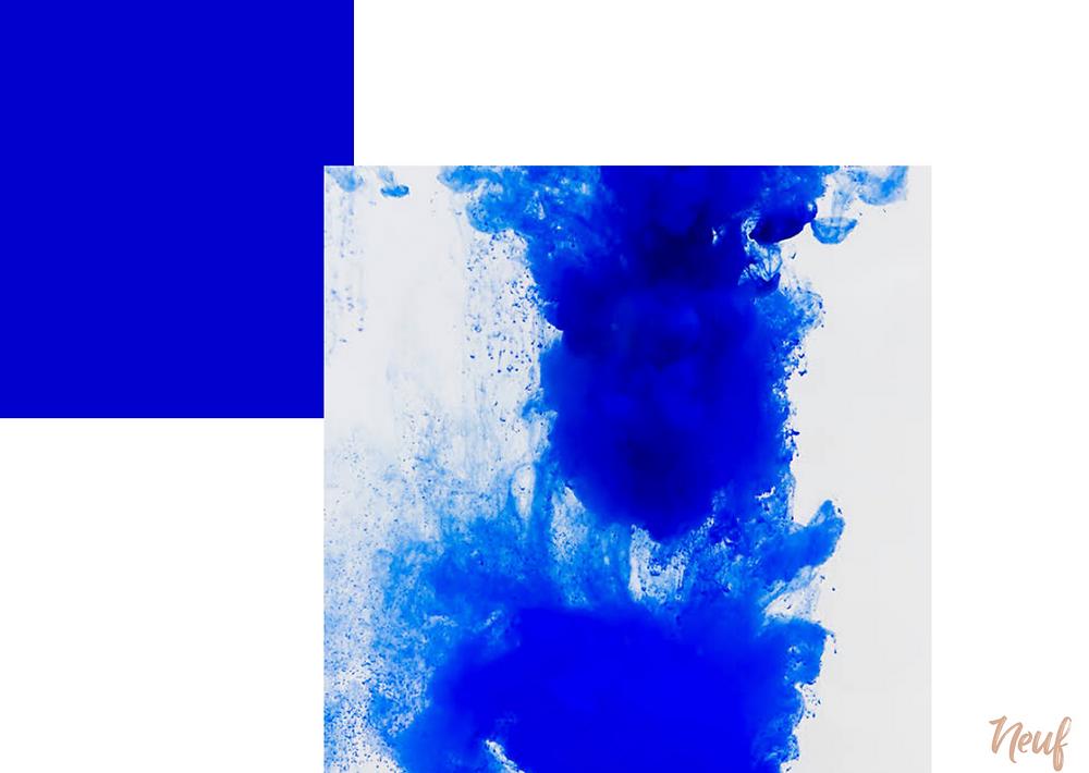 azul cores quentes e cores frias