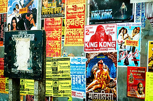 Travel photography bright color posters in India