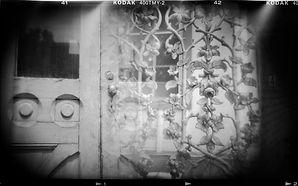 Holga camera photograph black and white multiple exposure Washington DC artwork