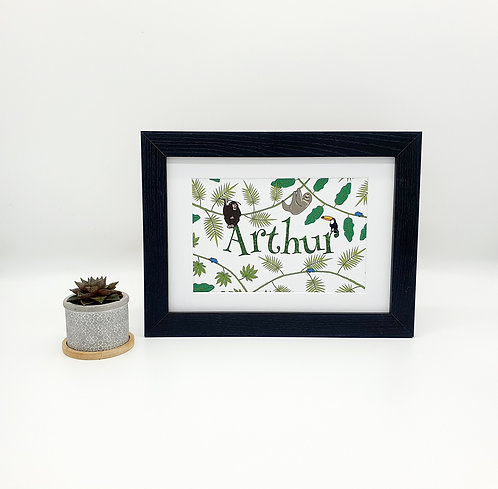Personalised Rainforest Print