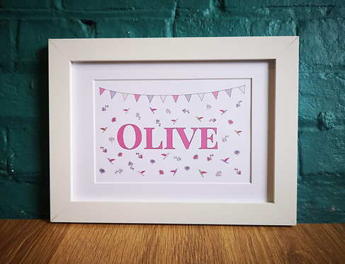 Personalised Girlie Print