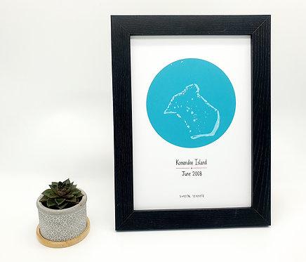 Komandoo Honeymoon Map Print