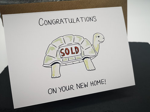 New Home Tortoise card