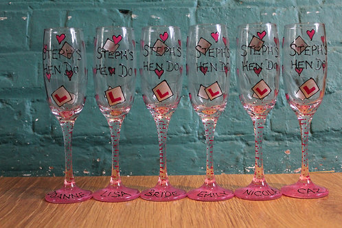 L Plate - Hen Party Glasses