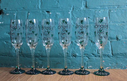 Green Heart - Hen Party Glasses