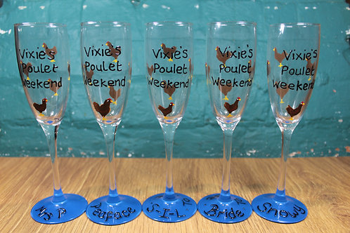 Hen Party Glasses - cluck cluck