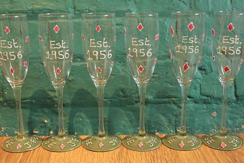 Diamond Wedding Party Champagne Flutes