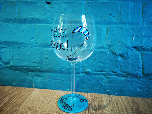 Kitesurfing Gin Glass
