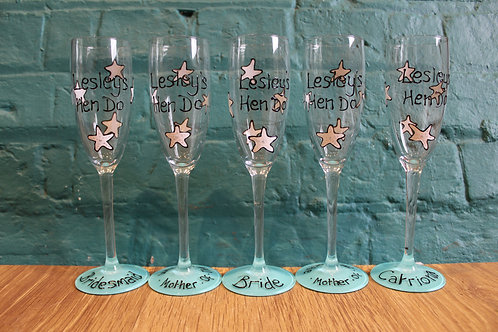 Star Fish Hen Party Glasses