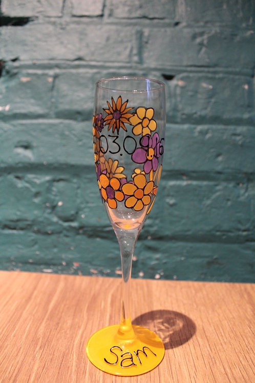 Floral Champagne Flute