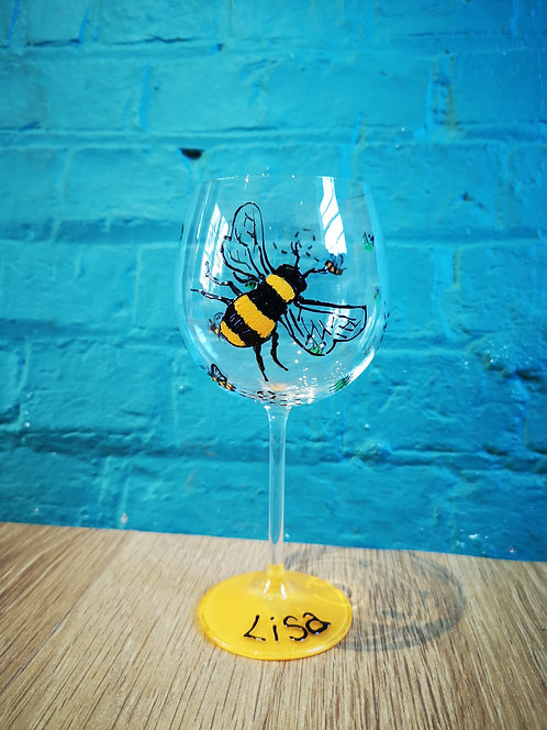Bee Gin glass