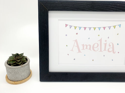 Personalised Garden Party Print