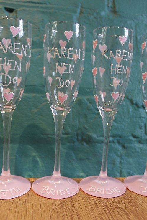 Pastel Pink Heart - Hen Party Glasses