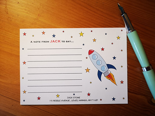 Space Rocket...a note from...