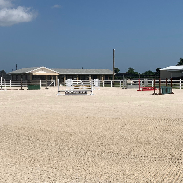 Our spacious riding arena