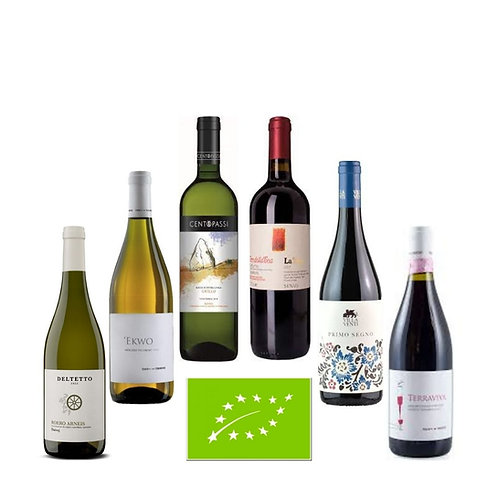 "Offerta ""BIOLOGICO""  6 vini biologici (3 vini bianchi + 3 vini rossi)"