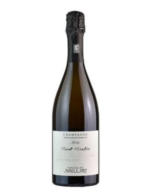 "Champagne AOC B. de Noirs Extra Brut 1er Cru ""Mont Martin"" 2016-Nicolas Maillart"