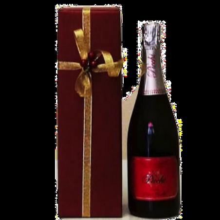 Confezione regalo scatola cartone elegante bordeaux per una bottiglia vino