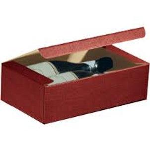 Scatola regalo bordeaux per 2 bottiglie vino o spumante