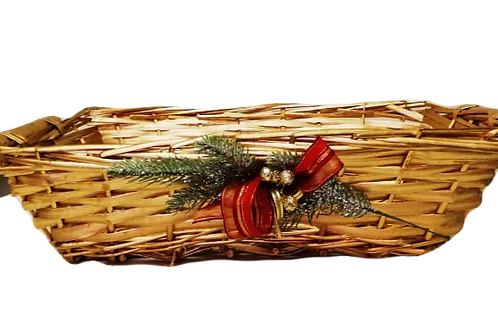 Confezione regalo Cesta di vimini dorata