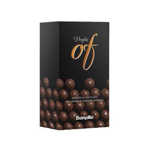 Voglie Of. Dragées di cioccolato contenenti grappa liquida - Bonollo