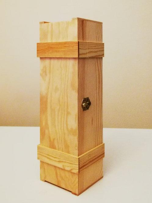 Cassetta legno vuota per 1 bottiglia