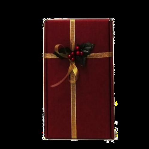 Confezione regalo scatola bordeaux per 2 bottiglie vino