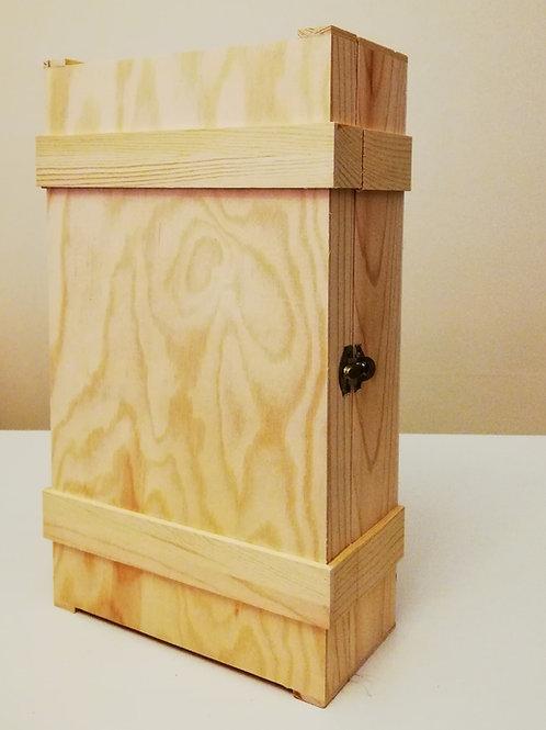 Cassetta legno vuota per 2 bottiglie