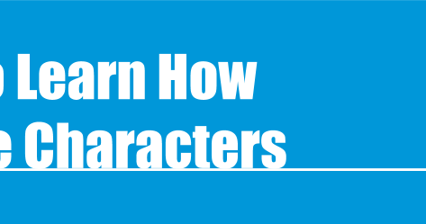 I Want To Learn How To Create Characters