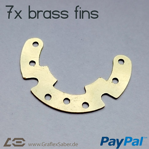 Fins (brass or steel)