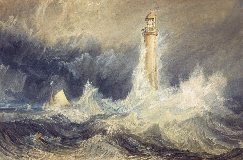 Joseph Mallord William Turner - Bell Rock Lighthouse, 1819