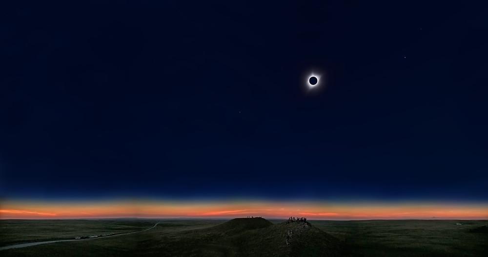 La Collina dell'Eclissi, Patrizio Nuti, Wyoming circa 30 km a nord di Torrington, 2017