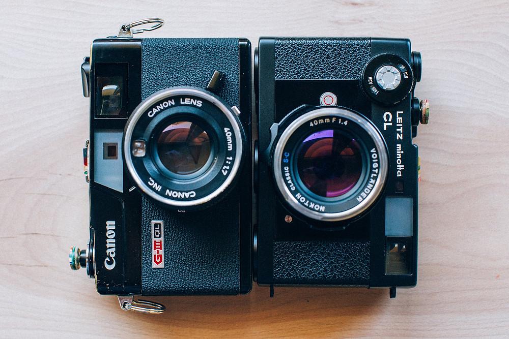 Canonet e Leica CL a confronto