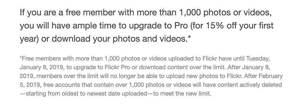 Il comunicato di Flickr (nuova gestione)