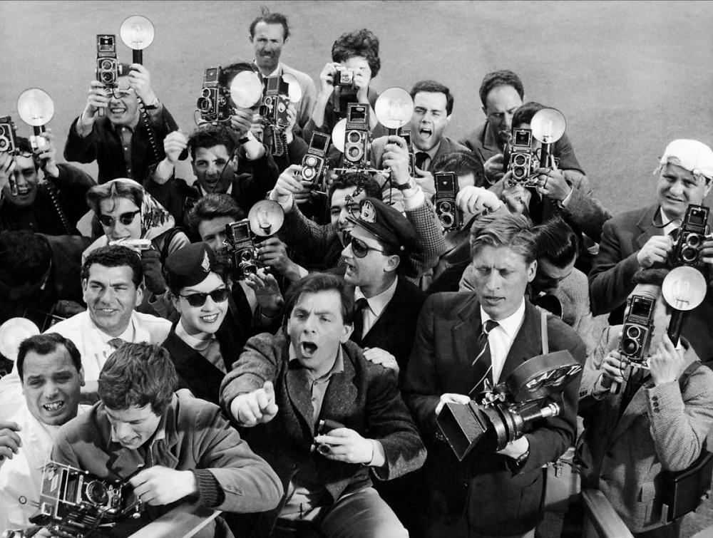 Una scena da La Dolce Vita, Fellini 1960